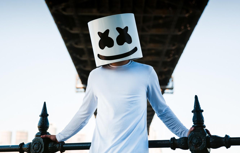 Фото обои диджей, EDM, Marshmello, DJ