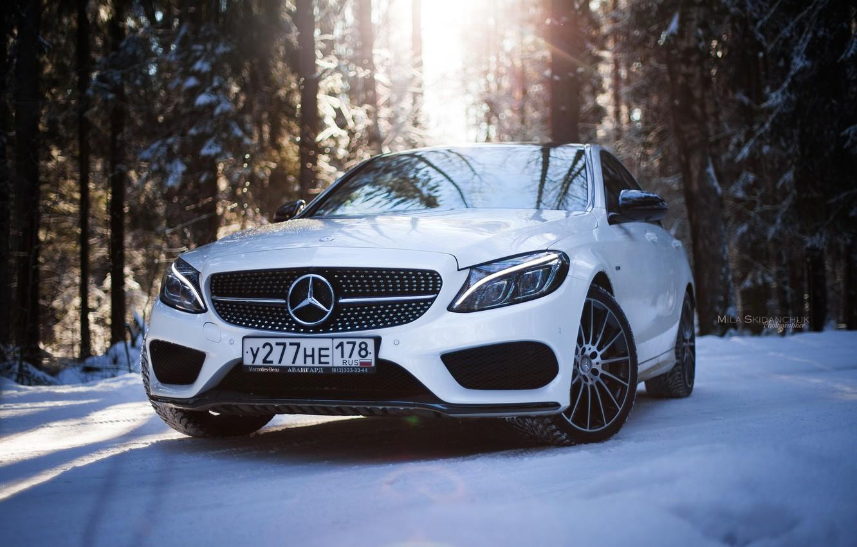 Фото обои зима, car, машина, авто, city, туман, гонка, сказка, тачка, red, mercedes, спорт кар, автомобиль, need …