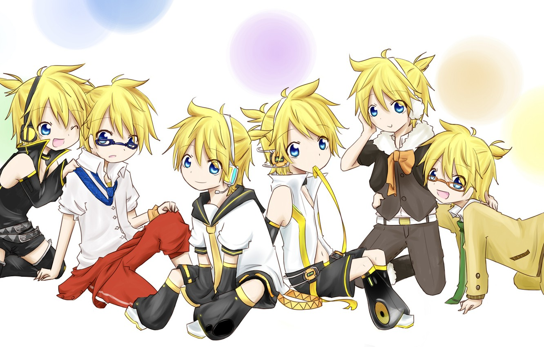 Фото обои аниме, арт, малыши, Vocaloid, Вокалоид, персонажи