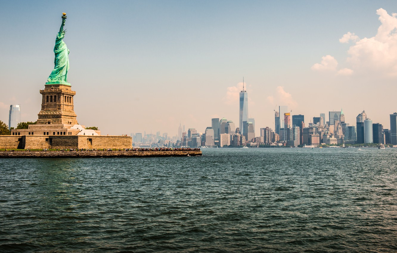 Фото обои New York, Statue of Liberty, Metropolis