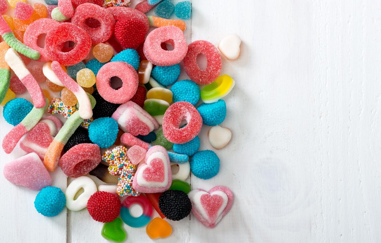 Фото обои сладости, сахар, мармелад
