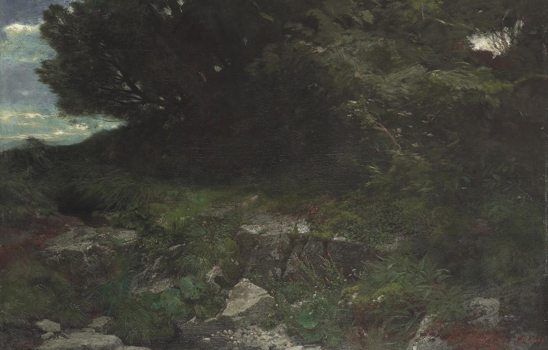 Фото обои 1901, Опушка леса, Арнольд Бёклин