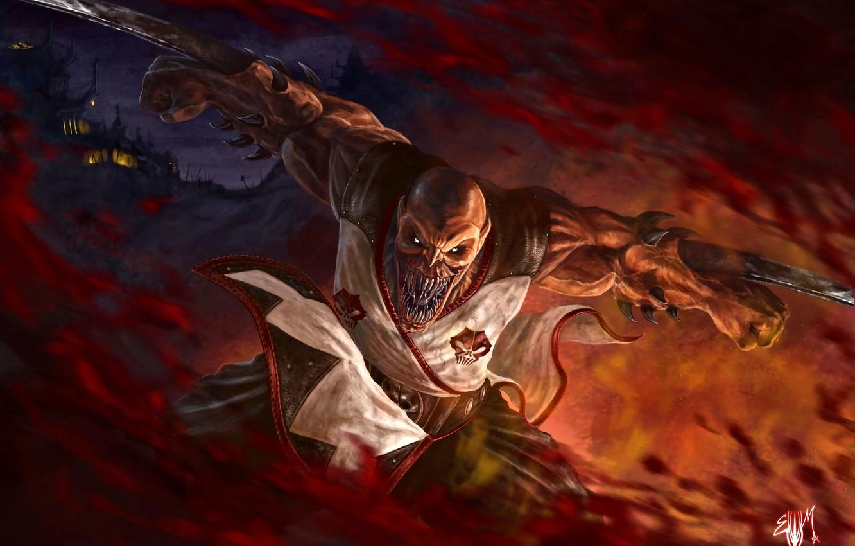 Фото обои Mortal Kombat, fan art, Baraka, Таркатанские лезвия, Таркатан, мутант-кочевник