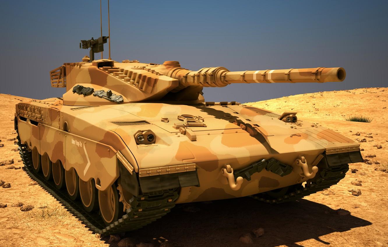 Фото обои танк, боевой, Merkava, Израиля, MAX, 3Ds