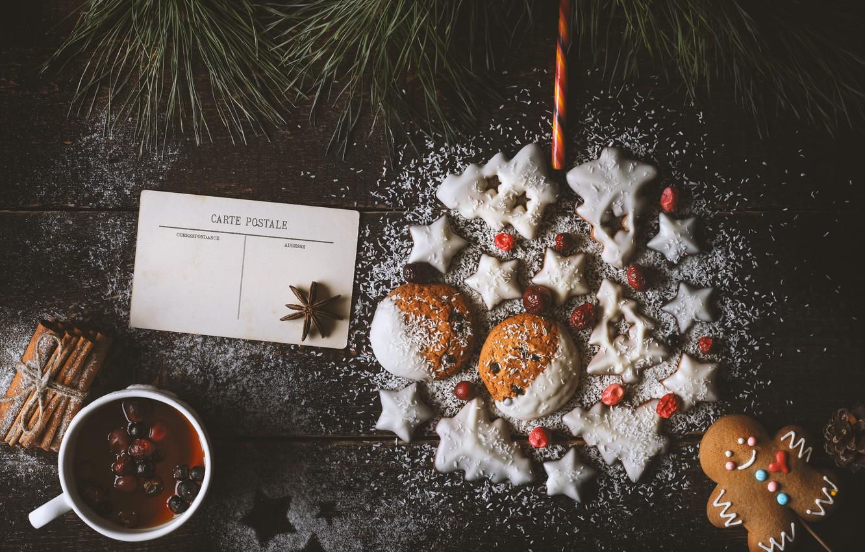 Фото обои украшения, Новый Год, печенье, Рождество, happy, Christmas, New Year, Merry Christmas, Xmas, cookies, decoration, пряники, …