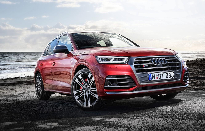 Фото обои море, Audi, ауди, кроссовер, поборежье