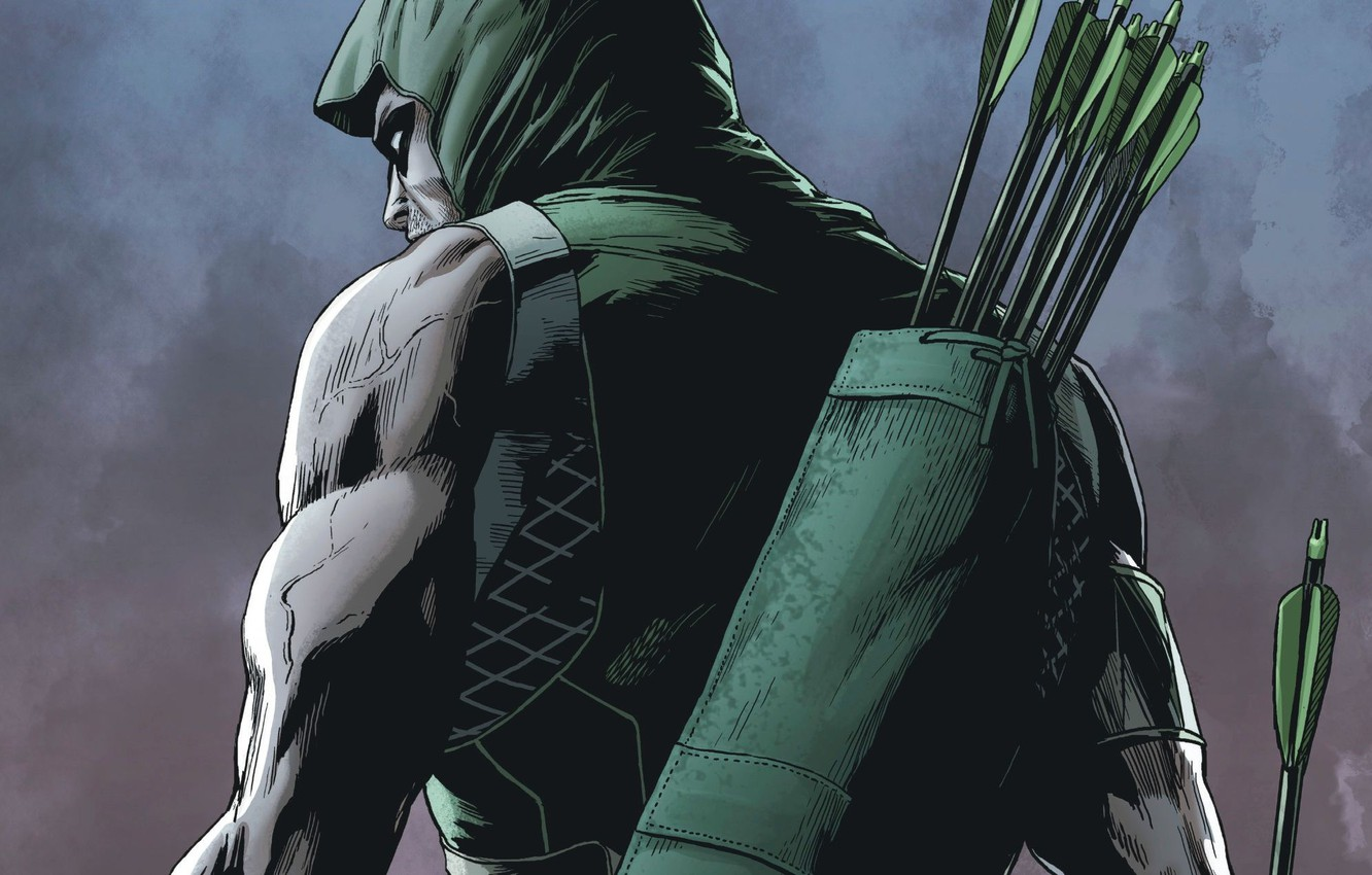 Фото обои comics, hero, arrow, green arrow, oliver queen