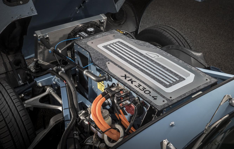 Фото обои Jaguar, concept, Ягуар, прототип, electric car, 2017, Jaguar E-type Zero, злектромобиль
