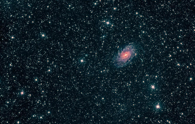 Фото обои галактика, Павлин, в созвездии, NGC6744