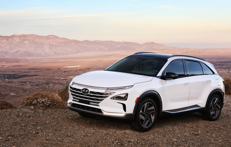 Фото обои Hyundai, 2018, кроссовер, CES, Nexo