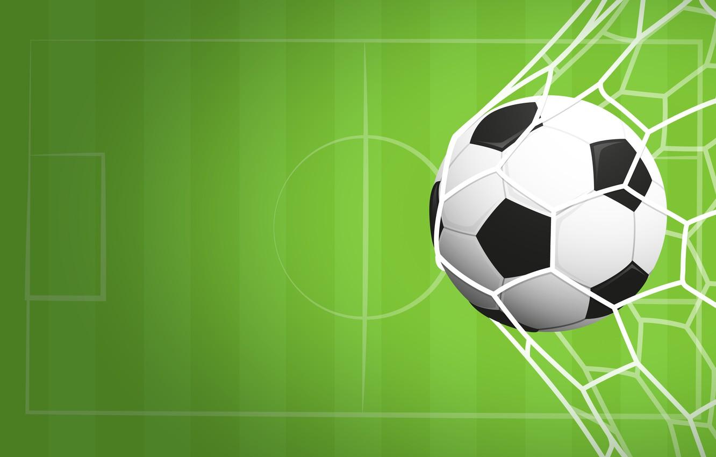 Фото обои фон, сетка, футбол, спорт, игра, мяч, вектор, ворота, зелёный, гол