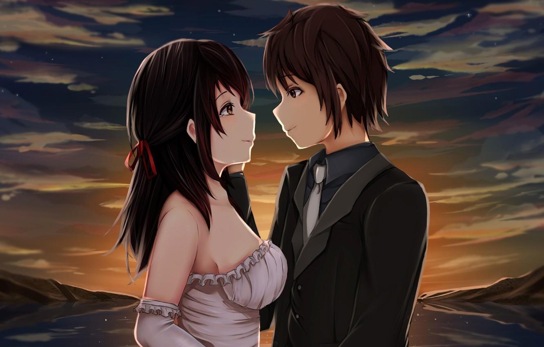 Картинки анимэ романтика