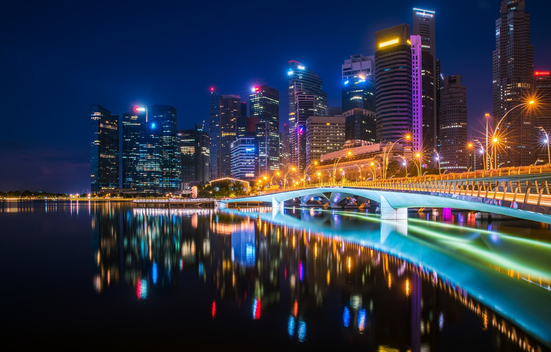 Обои ночные огни, ночной город, Пейзаж. Города foto 11