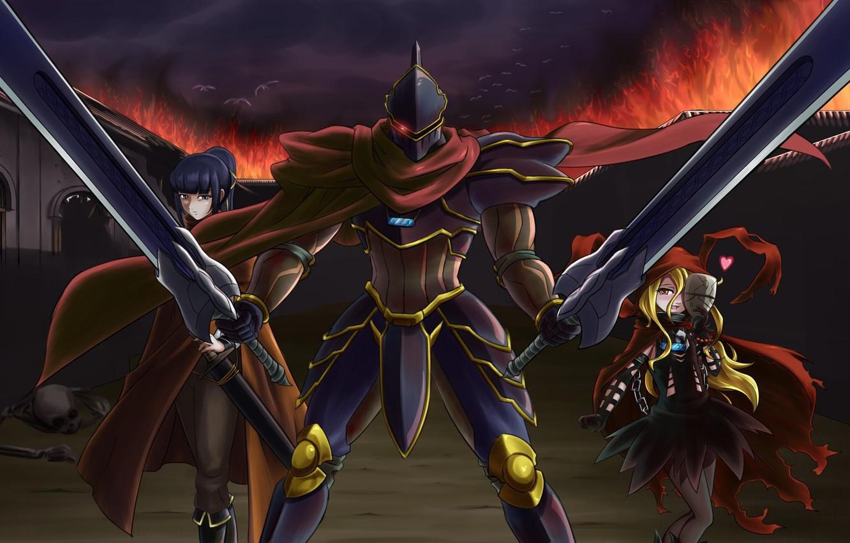 Фото обои Overlord, anime, asian, manga, japanese, oriental, asiatic, powerful, strong, sugoi
