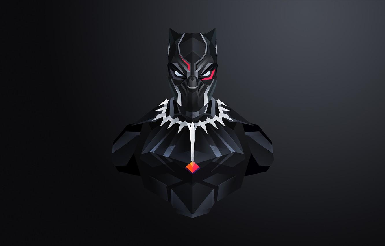 Фото обои маска, костюм, черный фон, комикс, MARVEL, Black Panther, Чёрная Пантера