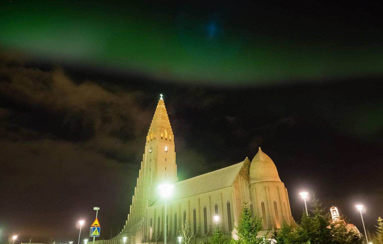 Обои рейкьявик, Исландия, ночь, свет. Города foto 10