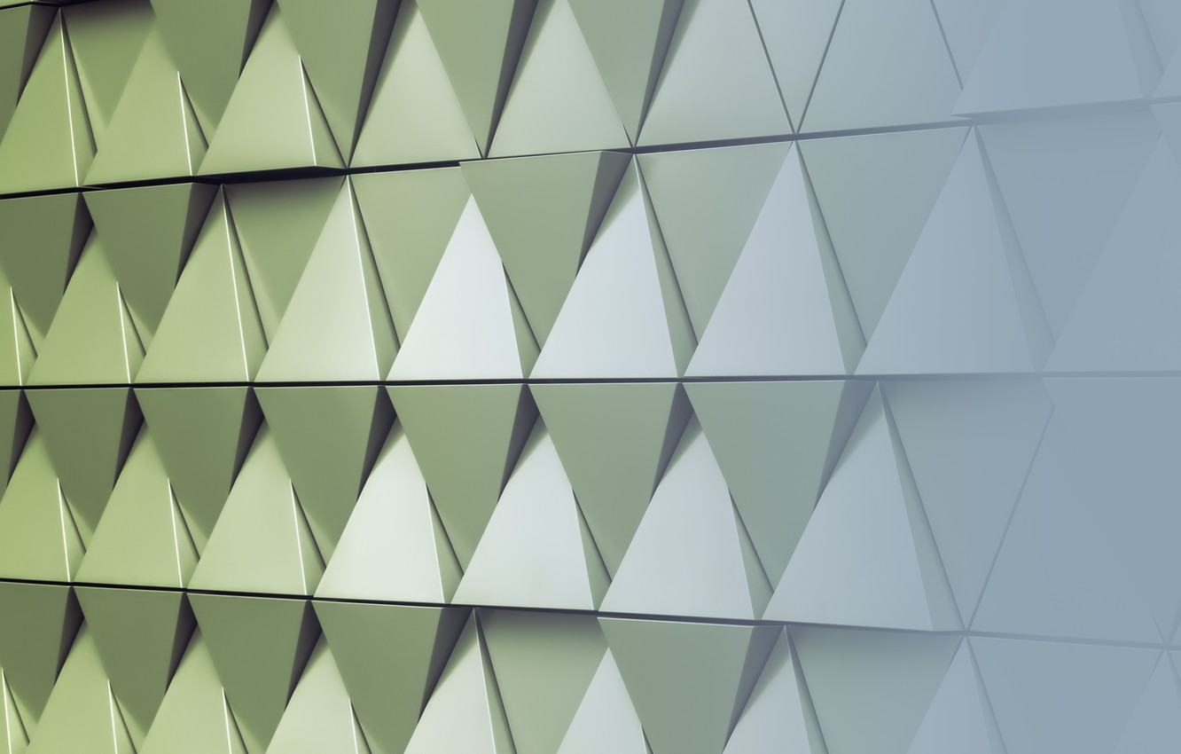 Фото обои abstract, wall, design, texture, треугольник, background, steel, triangle