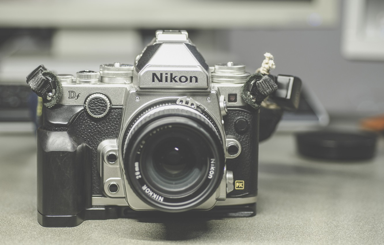 Фото обои фотоаппарат, Nikon, объектив