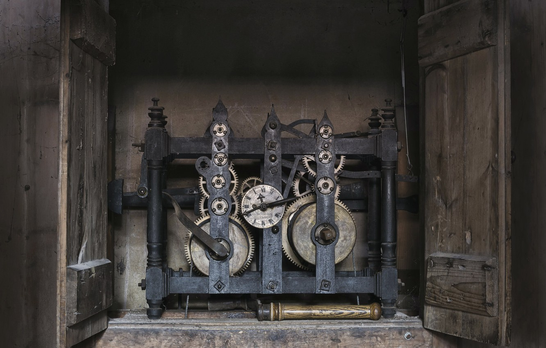 Фото обои время, часы, механизм