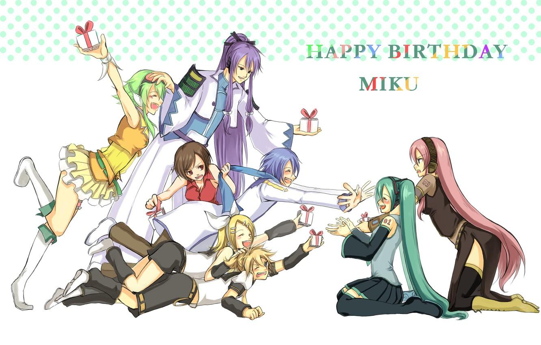 Фото обои день рождения, аниме, арт, Vocaloid, Вокалоид, персонажи