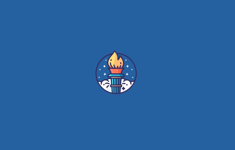Фото обои факел, Олимпийский огонь, Олимпийское пламя