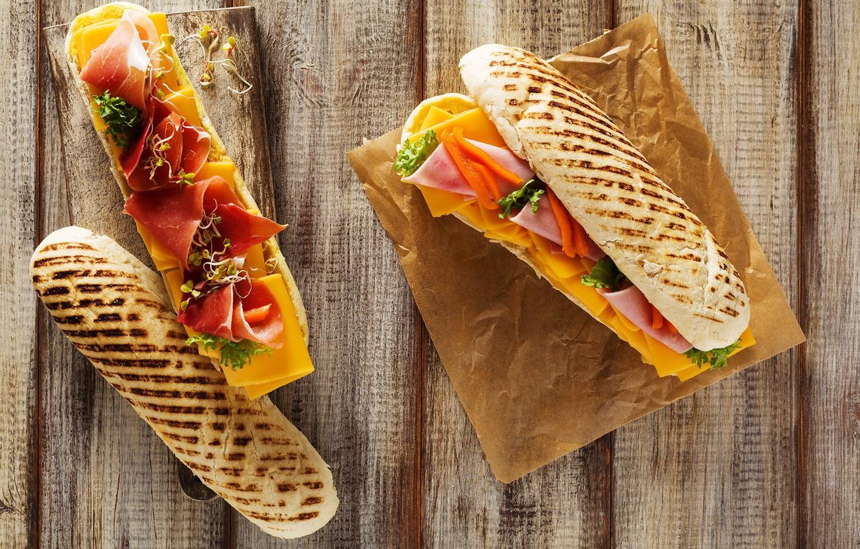 Фото обои сыр, хлеб, бутерброд, бекон, ветчина