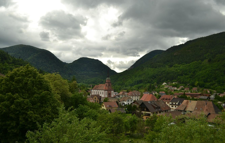 Фото обои Франция, Горы, Панорама, France, Mountains, Panorama, Urbes, Юрбес