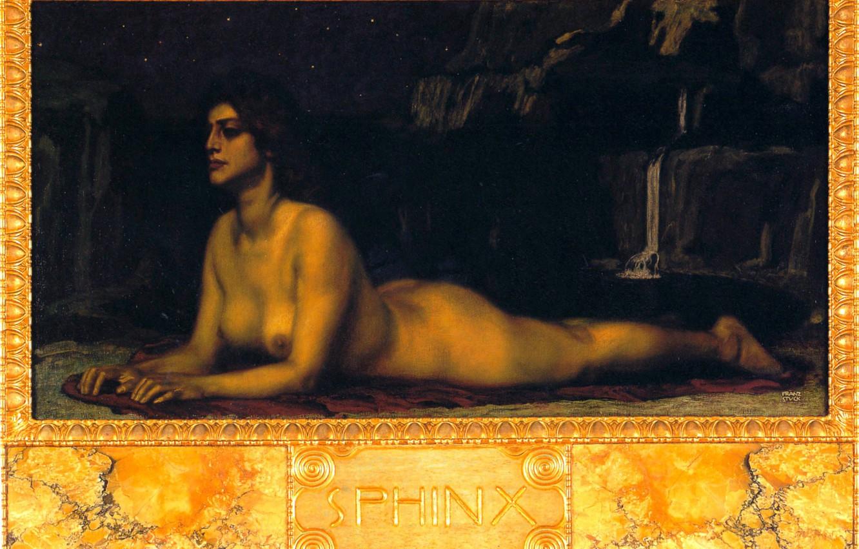 Фото обои Сфинкс, 1904, Символизм, Franz von Stuck