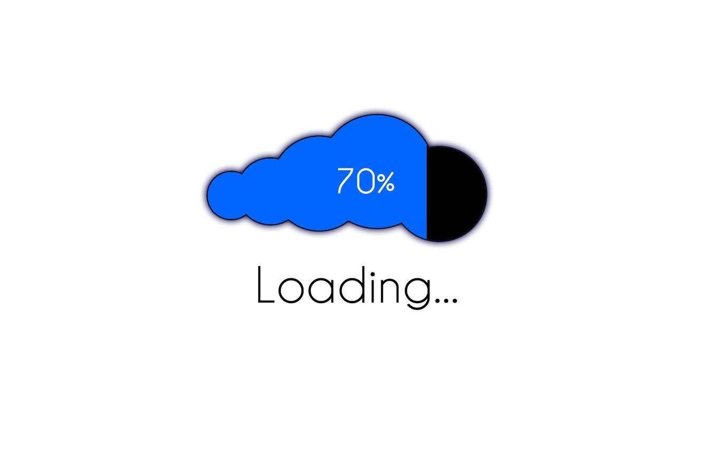 Фото обои minimalism, computer, cloud, Loading, digital art, artwork, white background, simple background, set, 70%