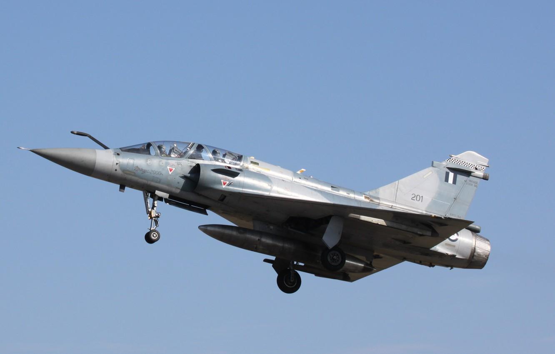 Фото обои mirage 2000, fighter plane, dassault, hellenic airforce