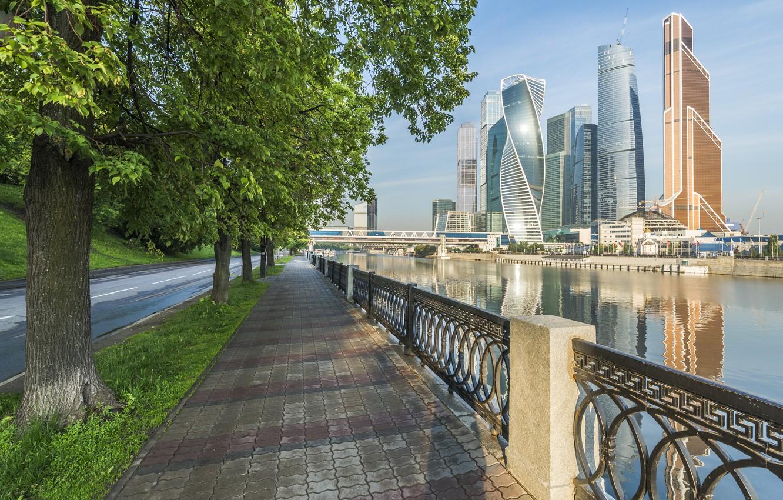 Фото обои Москва, Здания, Россия, Russia, Moscow, Москва-Сити, Buildings, Moscow City