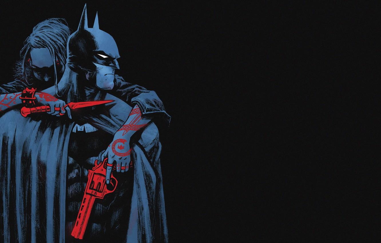 Фото обои Красный, Черный, Нож, Бэтмен, Костюм, Оружие, Герой, Маска, Комикс, Red, Тату, Плащ, Супергерой, Татуировка, Пушка, …