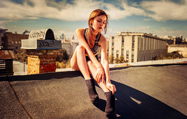 идеи для фотосессии на крыше здания