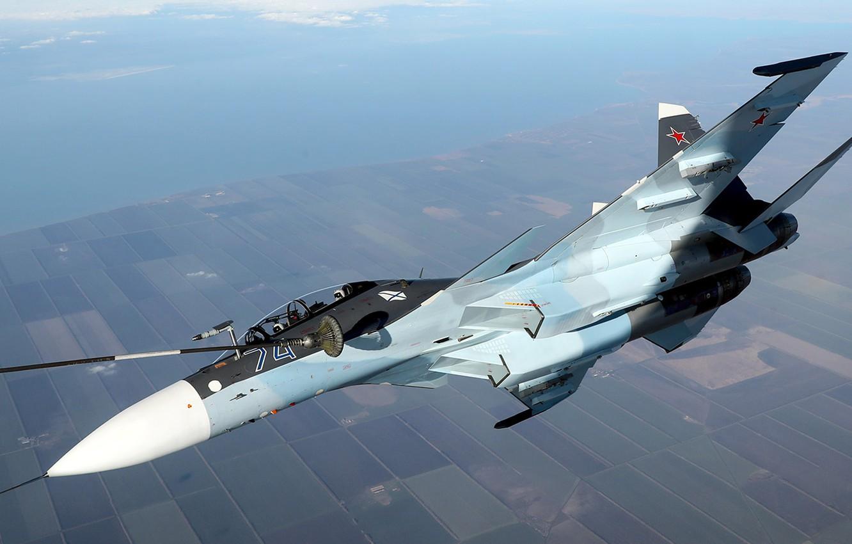 Обои Су-30см, двухместный, многоцелевой, российский. Авиация foto 10