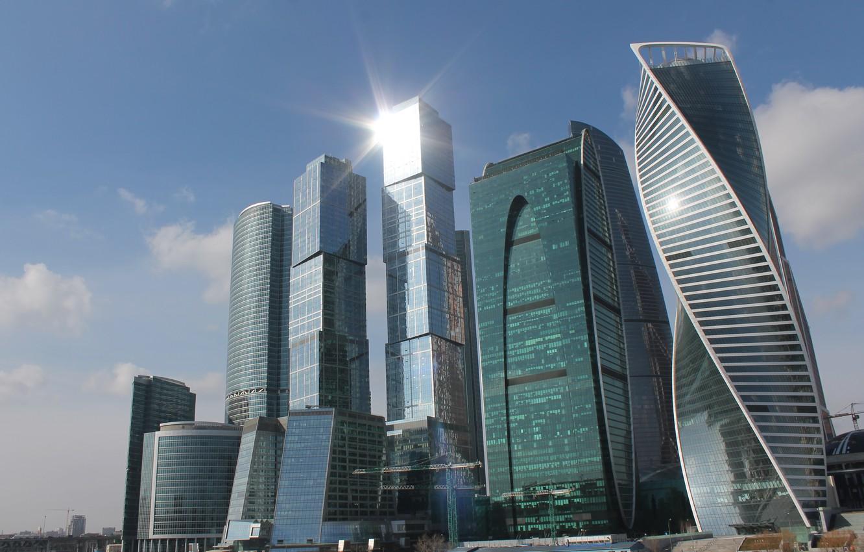 Фото обои город, москва, столица, москва-сити, март, 2017