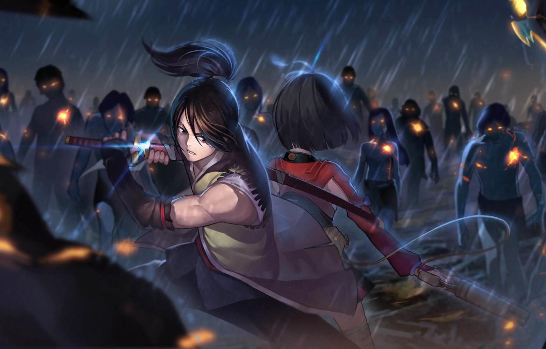 Фото обои аниме, Seinen, Koutetsujou no Kabaneri, Mumei, Kabaneri железной крепости