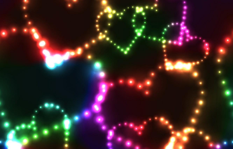 Обои неоновый, Abstract, rainbow, lights, colors, background. Абстракции foto 11