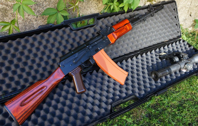 Фото обои оружие, автомат, weapon, калашников, ak-74, ак-74, assault Rifle
