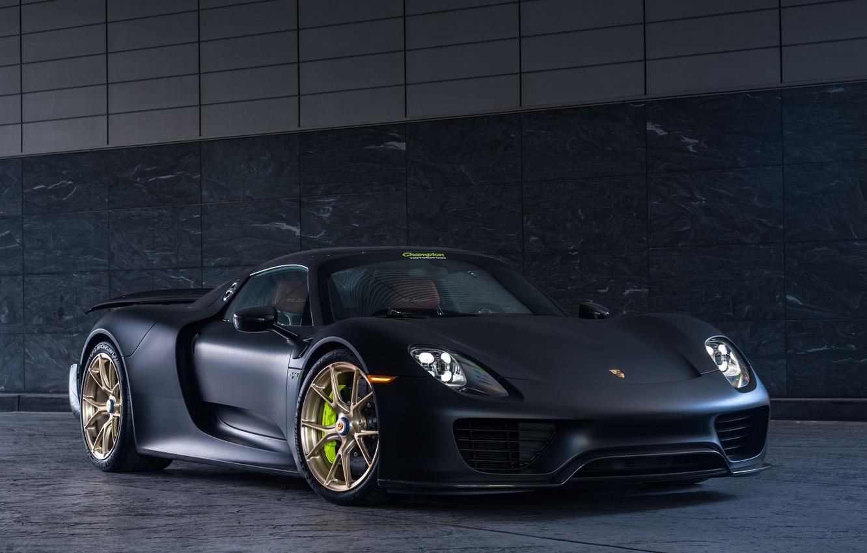 Фото обои Porsche, Spyder, 918, Gray, VAG, E-hybrid