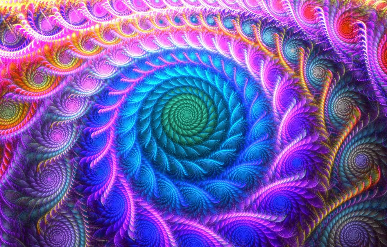 Фото обои colors, colorful, abstract, digital art, artwork, Psychedelic, vortex
