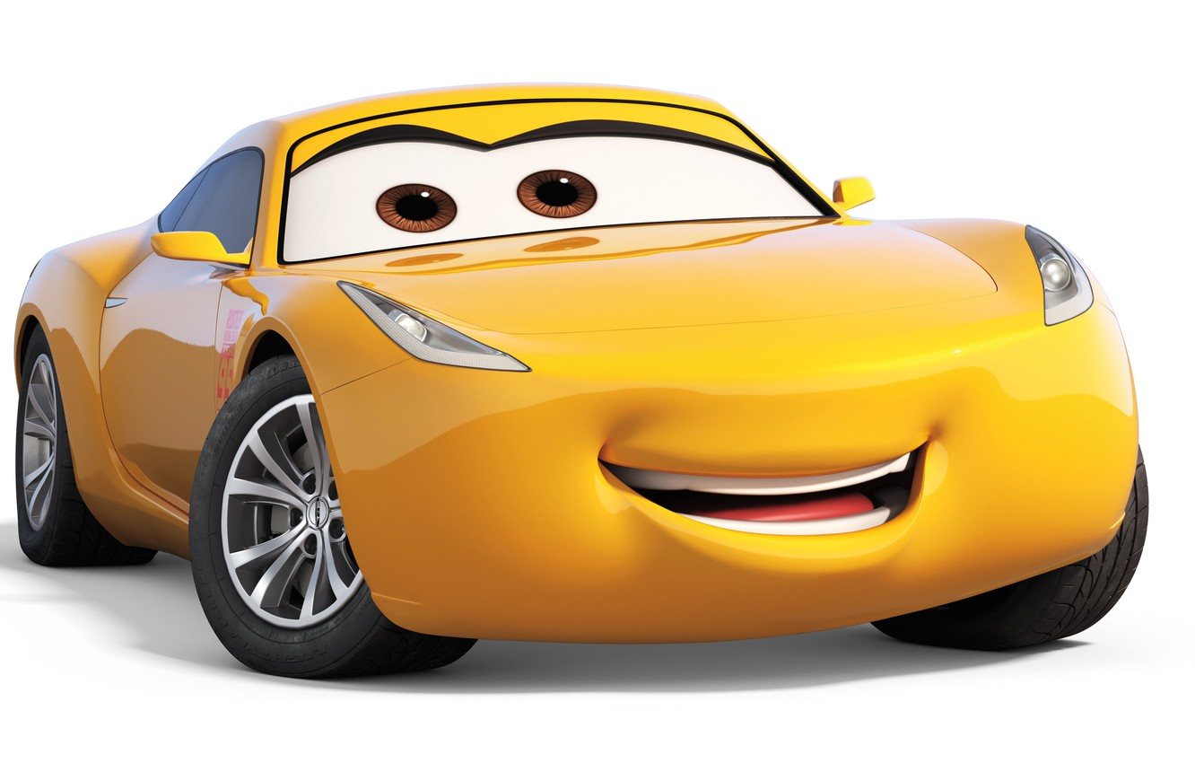 Фото обои car, Disney, Pixar, Cars, yellow, animated film, animated movie, Cars 3