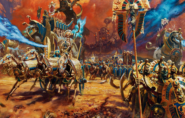 Фото обои Skeleton, Total War Warhammer II, Tomb Kings