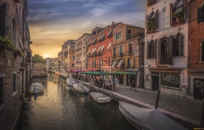 Обои лодка, канал, венеция. Города foto 13