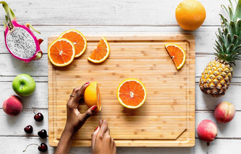 Обои напиток, стол, фрукты, цветы, фрукт дракона, апельсин, арбуз. Еда foto 9