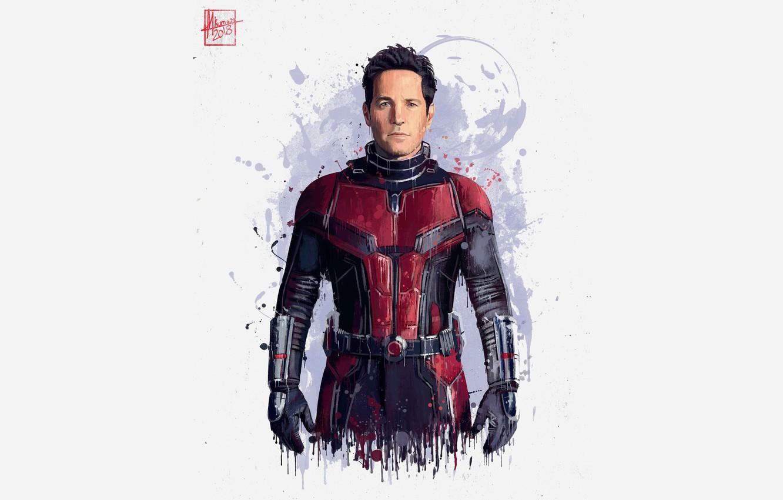 Фото обои фон, арт, актёр, персонаж, Avengers: Infinity War, Человек муравей, мстители: война бесконечности