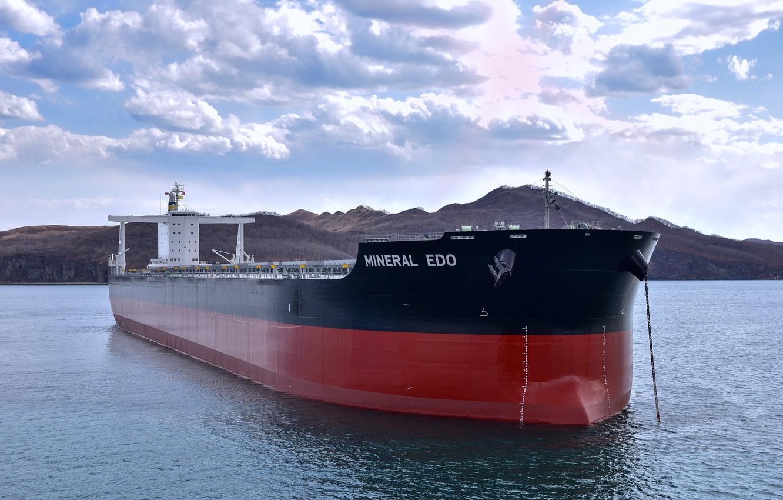 Фото обои море, судно, морской, сухогруз, Mineral Edo, балкер