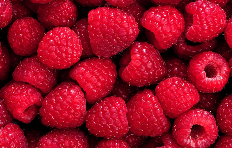 Фото обои малина, ягода, спелая, вкусная