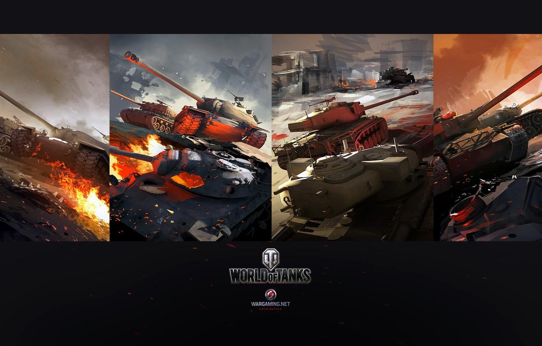 Фото обои World of Tanks, Dmitry Grishaev, USA tanks