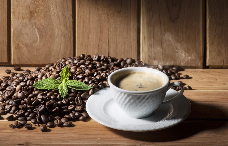 Обои coffee beans, coffee, wood, кофе, чашки, кофейные зёрна. Еда foto 10