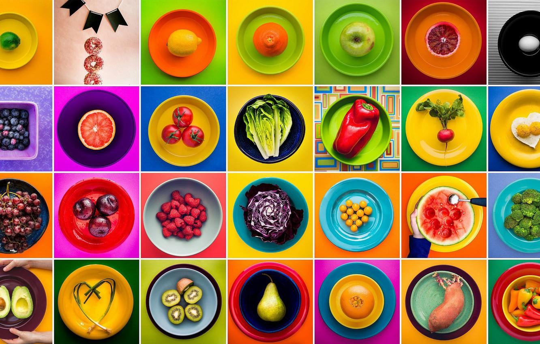 Фото обои фон, еда, тарелки